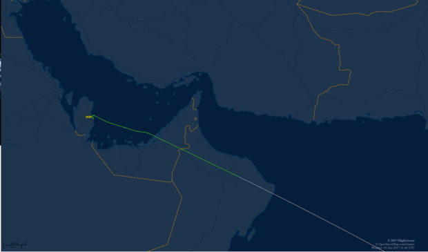 Previously the Doha Bangalore flight would proceed right over Dubai.