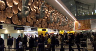 Immigration counters at New Delhi IGI airport. Picture courtesy Wikipedia.