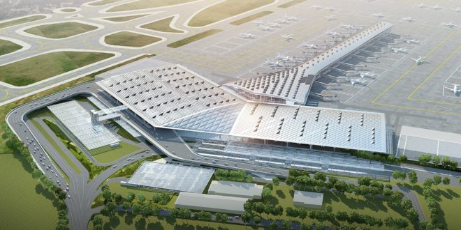 Computer generated image of the upgraded T1 at New Delhi IGI Airport