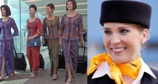 Singapore Airlines and Lufthansa cabin crew image composite by Bangalore Aviation
