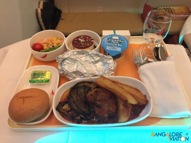 AI 171 - Meal from London to Newark.