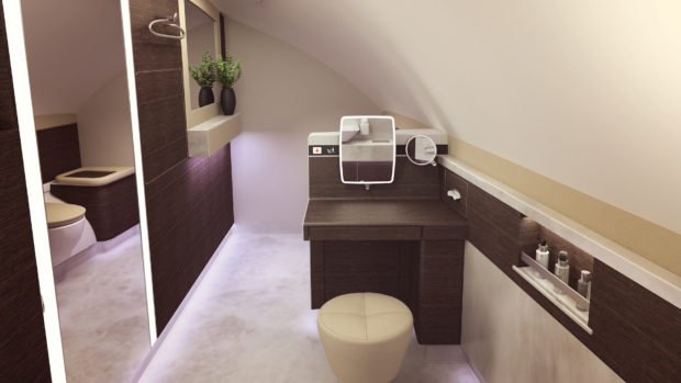 Singapore Airlines new A380 Suites lavatory