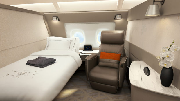 Singapore Airlines new A380 Suites