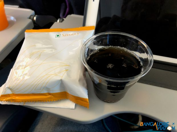 My coke zero and a snack packet.