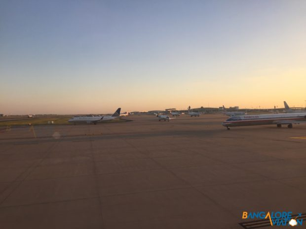 Some of the traffic waiting to depart DFW.