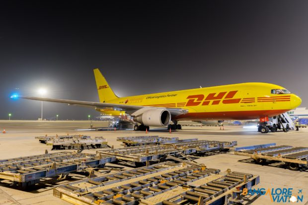 DHL International Boeing 767-200(BDSF) A9C-DHJ.