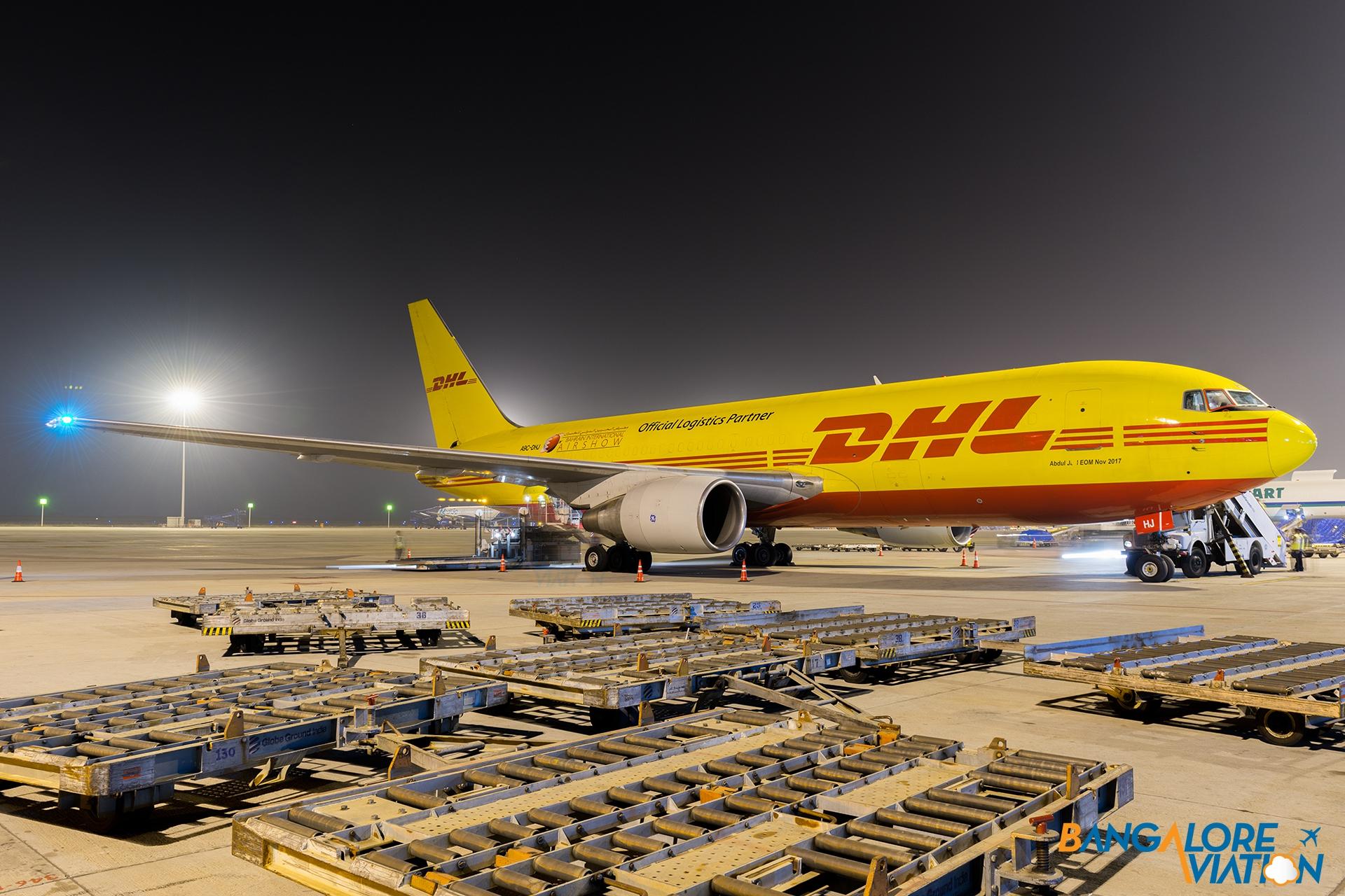 Photos: DHL Boeing 767 at Bangalore Airport – Bangalore Aviation