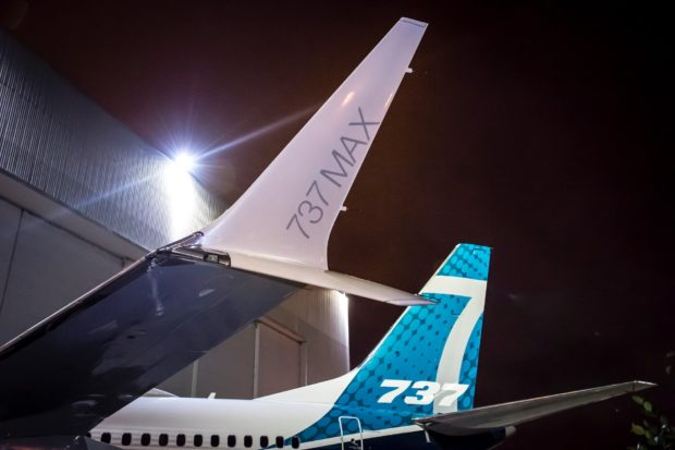 First Boeing 737 MAX 7 unveiled at Renton. Boeing image.