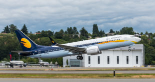 Jet Airways' first Boeing 737 MAX 8 VT-JXA. Boeing image.