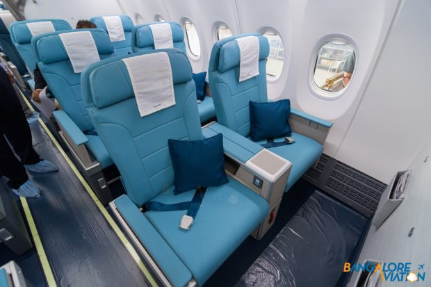 Business class on Jet Airways Boeing 737 MAX 8.