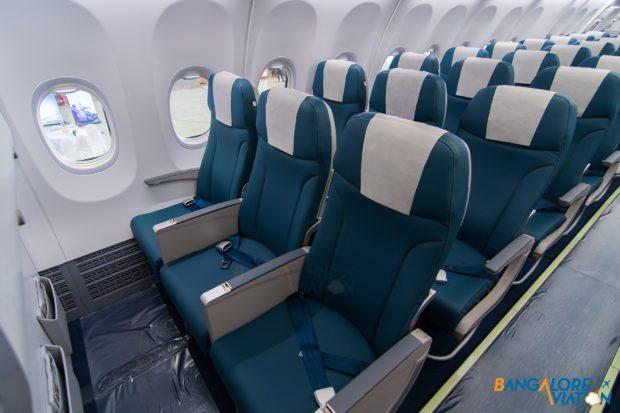 The economy class on Jet Airways Boeing 737 MAX 8.