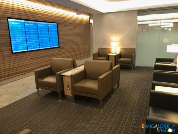 Various seating options at the lounge.