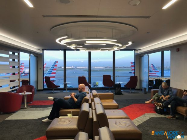 View as you enter the AA Flagship lounge at Chicago.
