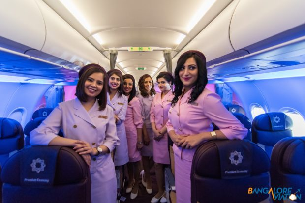 The retro crew uniform that will be used on special flights of the Retro Livery Tata SIA Airlines Vistara A320neo. Image copyright Devesh Agarwal. Used with permission.