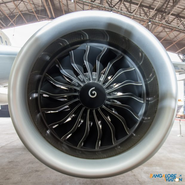 The CFM LEAP engine powering the retro livery Tata SIA Airlines Vistara Airbus A320neo. Image copyright Devesh Agarwal. Used with permission.