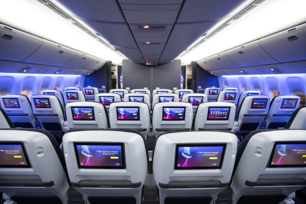 The new World Traveler Plus seat on a British Airways 777.
