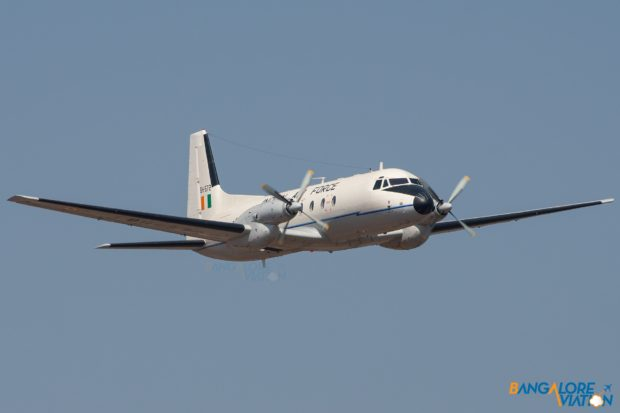 An Indian Air Force HAL HS748 at Aero India 2019.