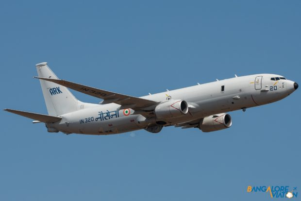 Completing the first set of flypasts was the Indian Navy Boeing P-8I.