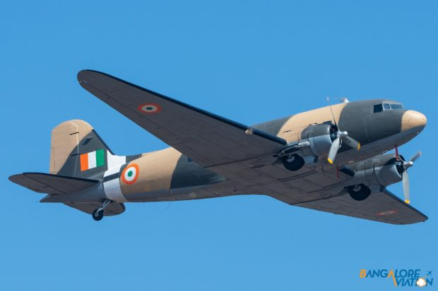 The Douglas DC-3 Dakota of the Indian Air Force Vintage Squadron.