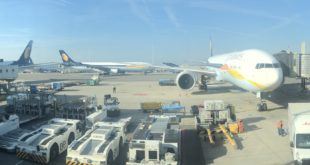 Four 777-300's of Jet Airways at Amsterdam.