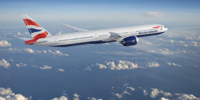 British Airways Boeing 777X.