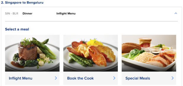 Book the Cook on Singapore Airlines website.