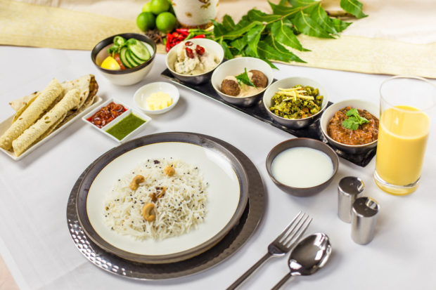 Singapore Airlines Shahi Thali in First/Suites Class on flights to and from India
