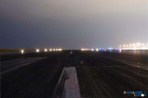 The existing north runway at Bangalore Airport.